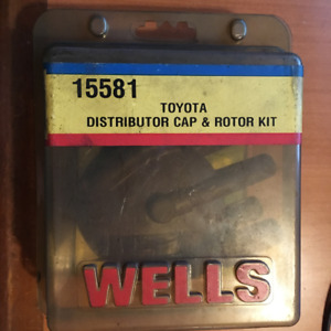 WELLS 15581 TOYOTA DISTRIBUTOR CAP & ROTOR KIT