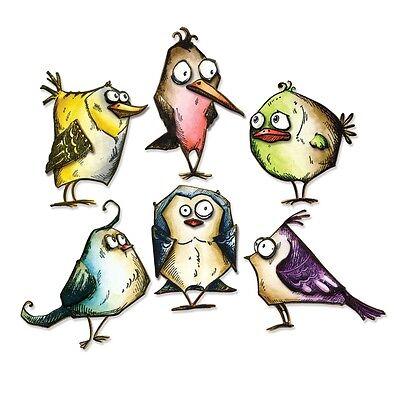 Crazy Bird (Bird Crazy Tim Holtz Sizzix Thinlits Die Set 18 Pack Bird Crazy Dies 660954)