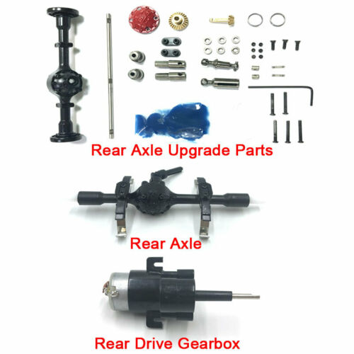 Car Parts - For WPL D12 RC Car Rear Axle Drive Power Gearbox Motor Wave Box Replacement Part
