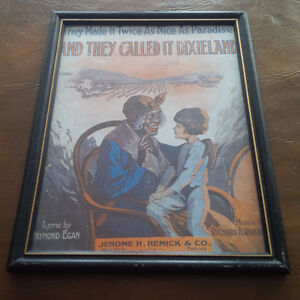 Framed Under Glass: Black Americana Lyric Cover, Dixieland