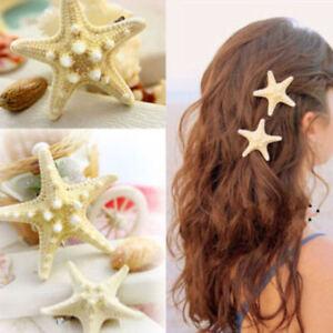 Women Girl Starfish Hairclip Mermaid Barrette Star Fish Hair Hairclip Beach Clip