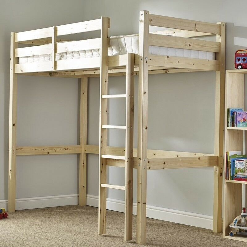 Standard Single Solid Pine High Sleeper Bed Frame