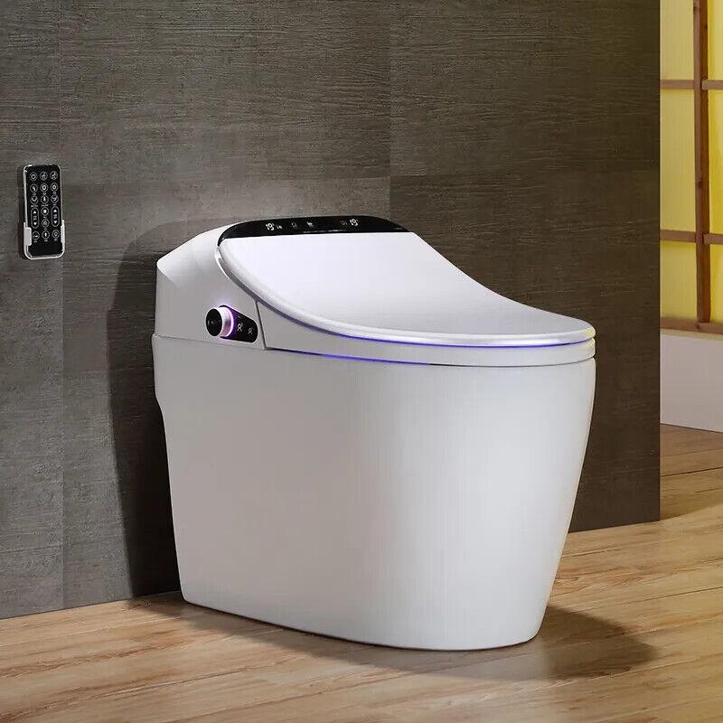 Smart One-Piece 1.27 GPF Floor Mounted Elongated Toilet Bidet with Seat in White