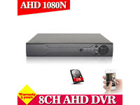 ahd dvr 8 channel +1TB system for cctv cameras ( no cameras included )