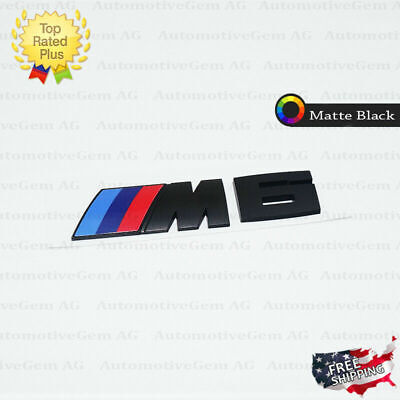 For BMW M6 Emblem Matte Black M Series Badge Rear Trunk Logo Sticker Competition