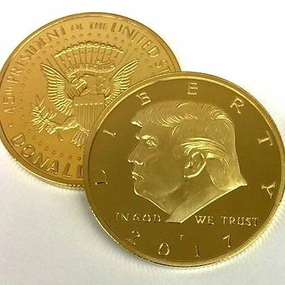 2017 US Donald Trump Gold EAGLE Commemorative Silver Dollar Collection Coin Gift