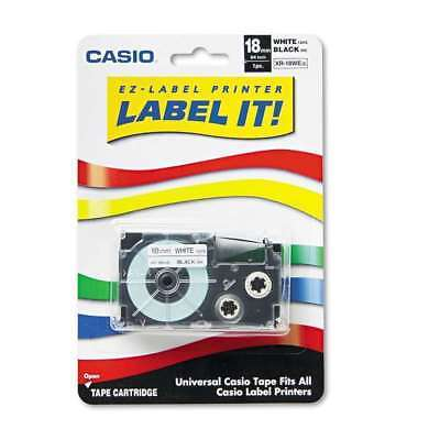 Casio Tape Cassette For Kl Label Makers 34in X 26ft Black On White Xr-18wes