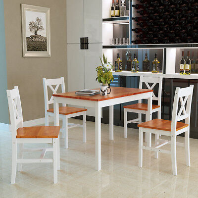 Dining table and 4 chairs set Wooden Dining Room Home Kitchen Furniture UK STOCK