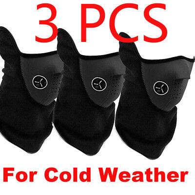 3PCS Warmer Face Mask Bike Motorcycle Ski Snowboard Neck Winter Protective Gear