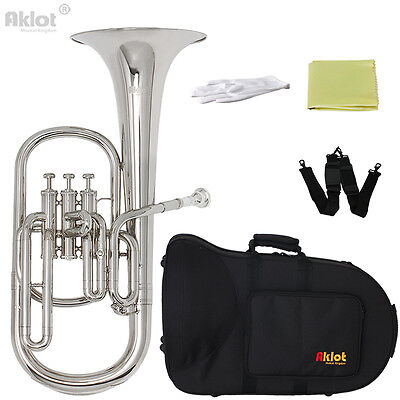 Alto Horns Charitable Yamaha Alto Horn Yah-203s Eb Silver Plated Finish Yah203s Professional New
