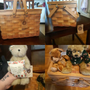 Boyds Pamela picnic basket set new with tags