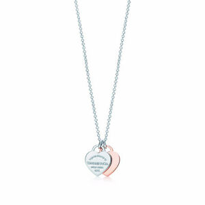 Return to Tiffany Double Heart Pendant