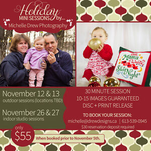 Christmas/Holiday Mini Sessions! (Indoor & Outdoor) Belleville Belleville Area image 1