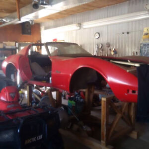 Projet chevrolet corvette 1975 stingray