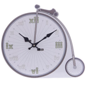 Retro Penny Farthing Bicycle Shaped Picture Wall Clock