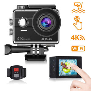 Action Camera 4K 16MP Waterproof Camera Sony Sensor Underwater