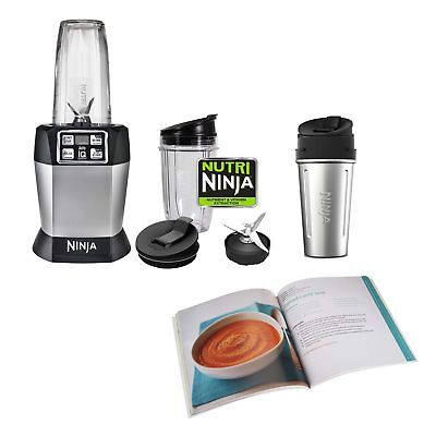 Ninja Auto-iQ Blender, 3 Nutri Cups, & Recipe Cook Book (Certified Refurbished)