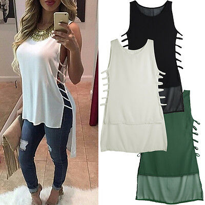 Fashion Womens Lady Summer Vest Top Sleeveless Blouse Casual Tank Tops T-Shirt