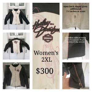 Harley Davidson womans leather motorcycle coat