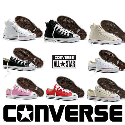 Converse Chuck Taylor All Star Lo Tops Unisex Canvas Trainers Shoes White Black