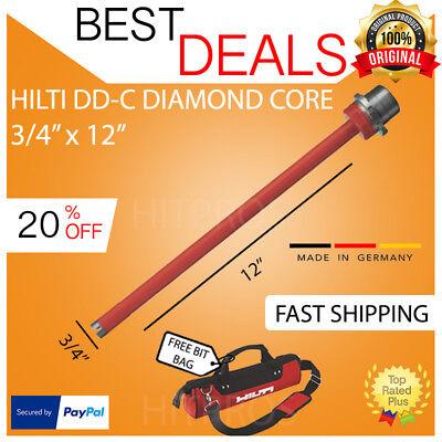 Hilti Diamond Core Bit Dd-c 34 X 12 T4 Brand New Free Hat Fast Shipping