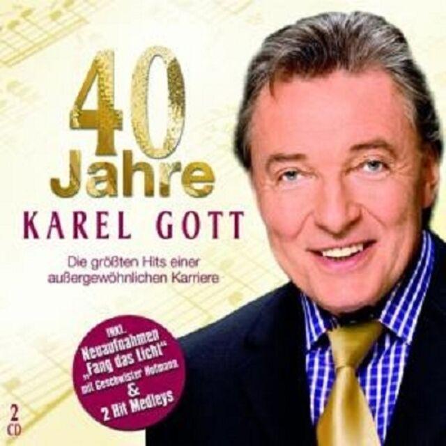 """KAREL GOTT """" 40 JAHRE KAREL GOTT"""" 2 CD NEUWARE"""