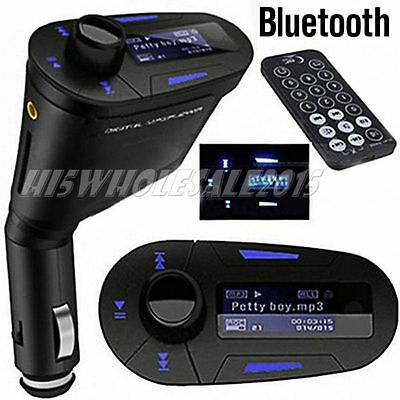 US Wireless Bluetooth Car Kit FM Transmitter LCD MP3 Stereo Player Remote SD/USB