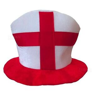 England Red & White St. Georges Hat Fancy Dress Accessory Euro 2016 M0AC