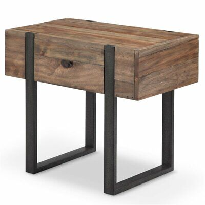 Magnussen Prescott Modern Chairside End Table in Rustic - Magnussen Modern Table