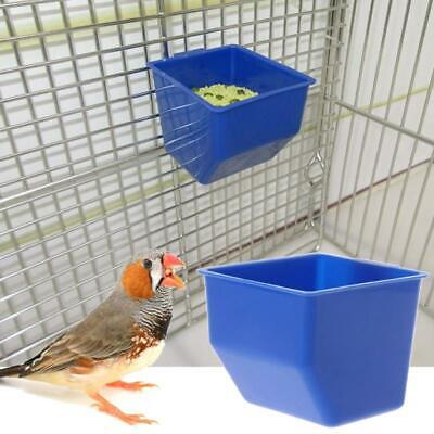 1 Pc Blue Bird parrot Plastic Food bowl Hanging Cups Pigeons Cage Feeding Tool