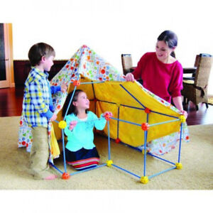 NEW: Discovery Kids 72 Pc Build & Play Construct Fort, Tent Tunn