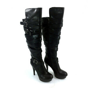New Knee-Thigh High Boots High Heel Stilettos Black 8.5-9