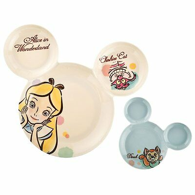 Alice in Wonderland Dinah Set of 2 Melamine Plate Disney Store Japan Home NIB