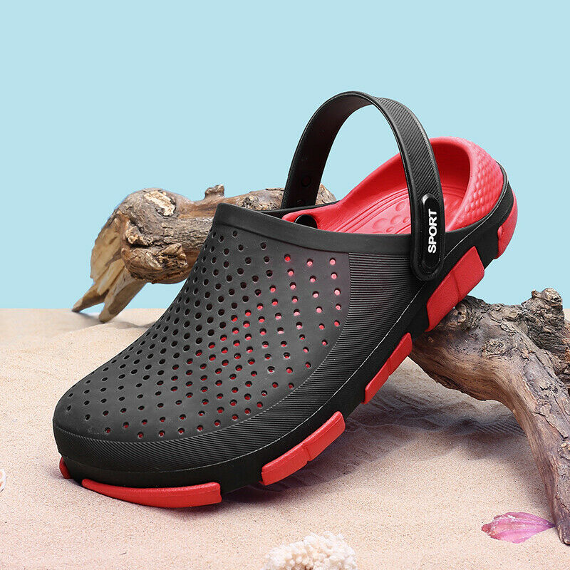 Mens Summer Hollow-out Sandal Clog Slipper Shoes Breathable Outdoor Beach Garden