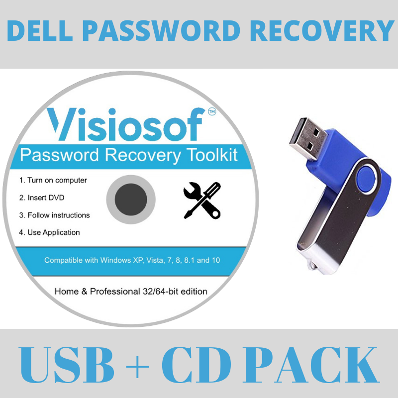 DELL Password Recovery Software Reset Disk USB Windows 10 8 7 Vista XP