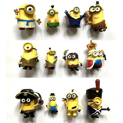 Despicable Me Minions Movie 12 pcs Mini Action Figures Set: Vampire King Pirate](Despicable Me Toys)