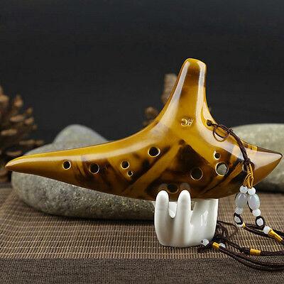 12 Hole New Legend Zelda Ocarina of Time Alto C Smoldering Ceramic Flute Ocarin for sale  Shipping to Canada