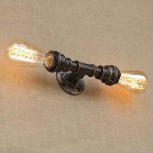 Industrial Rustic Vanity Lighting Pipe 2-light Wall Wall Sco