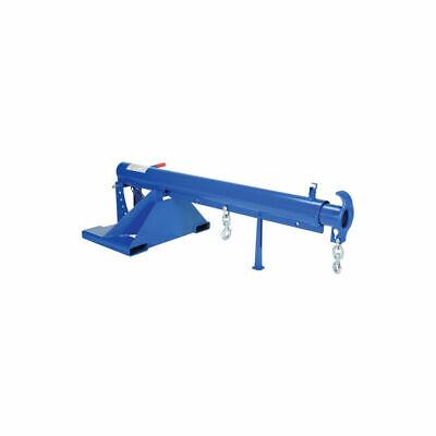 New Adjustable Pivoting Forklift Jib Boom Crane 6000 Lb. 30 Centers