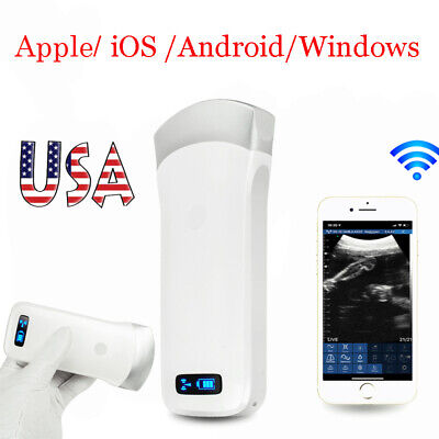 Wireless Handheld Ultrasound Scanner System 3.5mhz Electronic Array Convex Probe