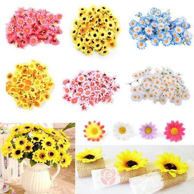 100pcs Artificial Daisy Silk Flower Petals Head Wedding Party DIY Decor Crafts