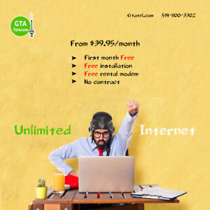Unlimited Internet For Only $34.95 Get a 25Mbps Download Speed