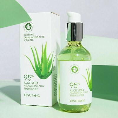 A Pack 200ml Pure&Natural Aloe Vera Soothing Gel Vegan Organic Salon Moisturiser