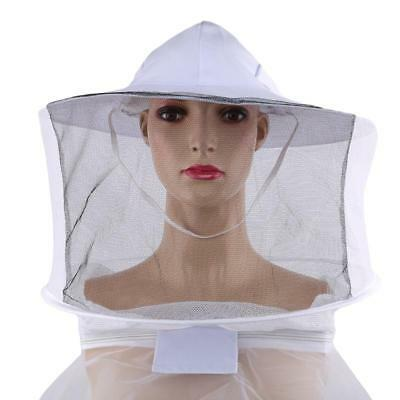 Beekeeping Jacket Veil Bee Keeper Suit Hat Pull Over Smock Protect Equipment Q
