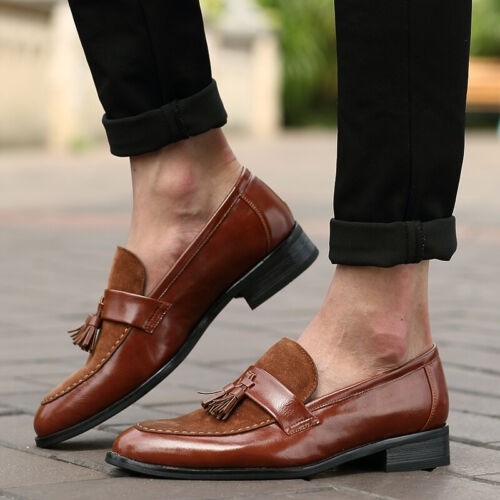 Details about  /Mens Tassels Faux Leather Slip On Wedding Party Shoes Formal Business Pointed D