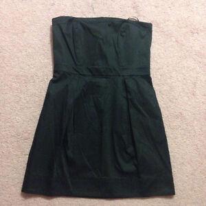 New black strapless mini dress size 12