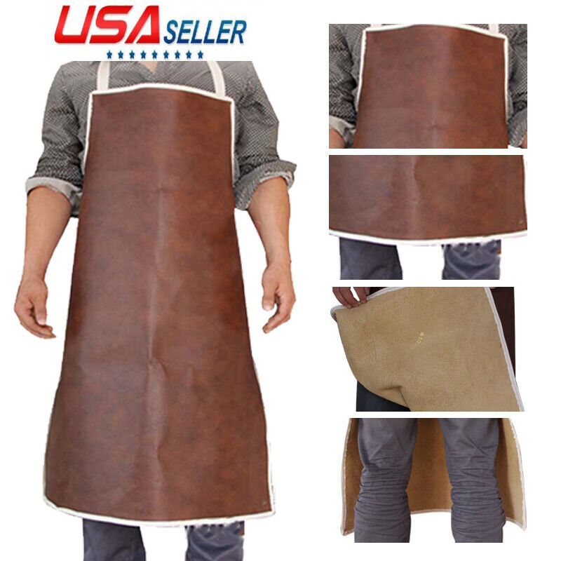 Welding Apron Heat Insulation Cow Leather cowhide Welder Protection Carpenter US