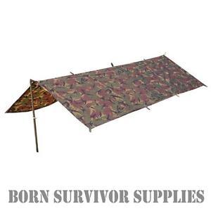 BRITISH ARMY STYLE DPM CAMO BASHA - Waterproof Survival Shelter Tarp Bivvy Bivi