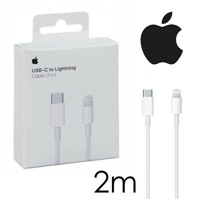 Câble USB-C Lightning 8 Pin 2m Chargeur PD 20w Apple iPhone 12...