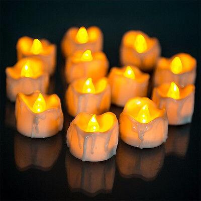 Durable Yellow Flicker Electric Candles Flameless Tea Lights Wedding - Electric Tea Lights